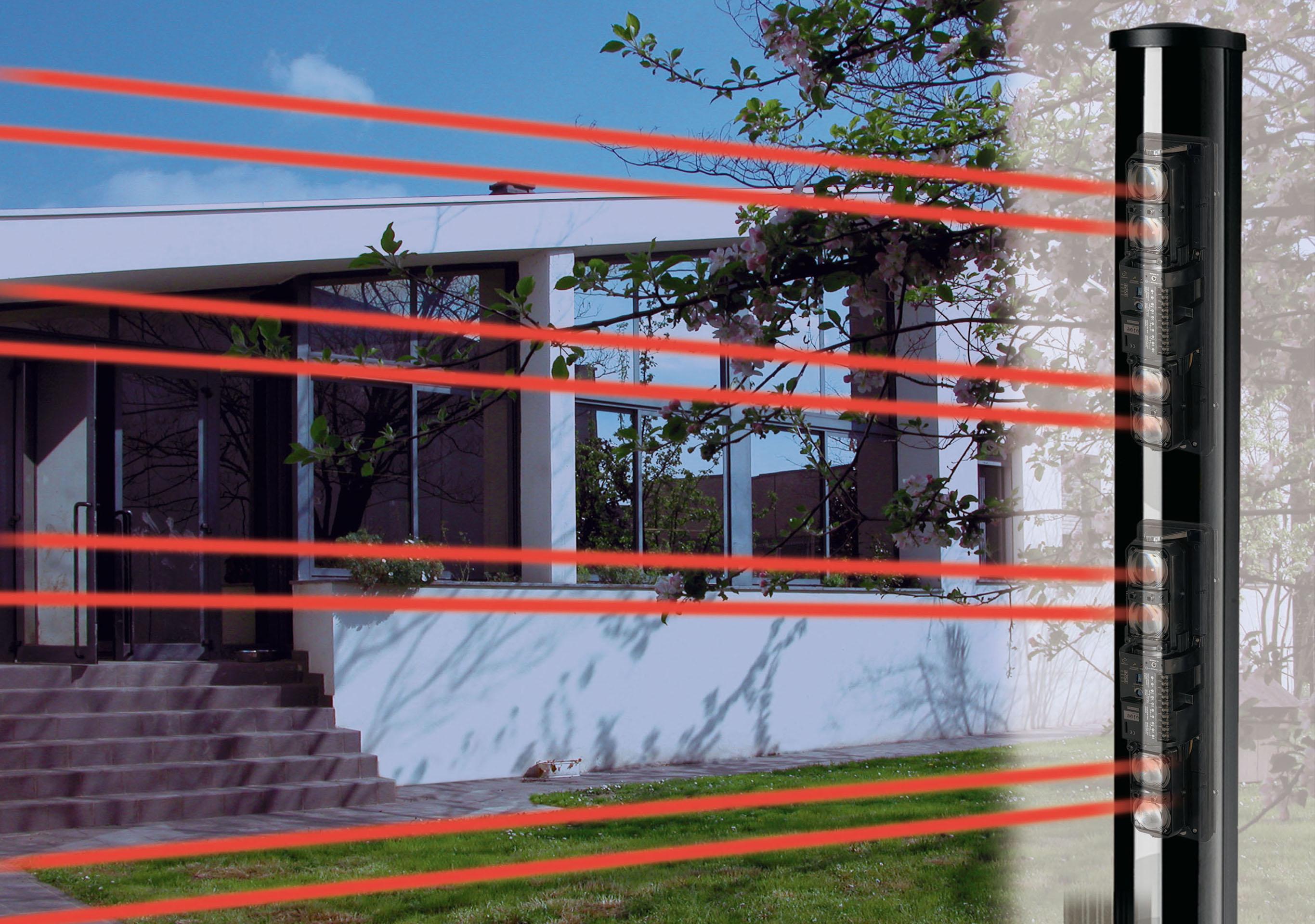 Barriere infrarosso per portico